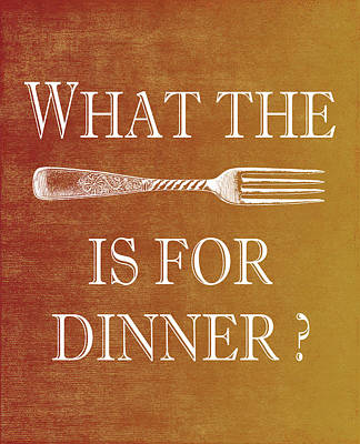Digital Art - What The Fork Is For Dinner? by Jaime Friedman