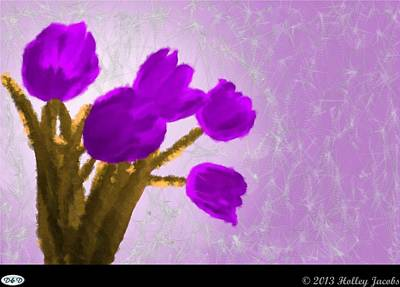Digital Art - What's Up Purple by Holley Jacobs