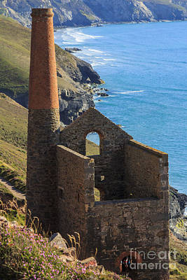 Photograph - Wheal Coats Chapel Porth Cornwall by Brian Roscorla