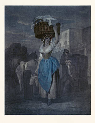 Strawberry Drawing - Wheatleys Cries Of London, Uk, Strawberrys Scarlet by Wheatley, Francis, R.a. (1747-1801), English