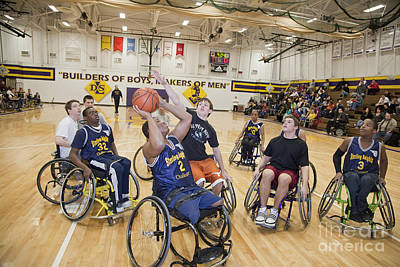 Photograph - Wheelchair Basketball by Jim West