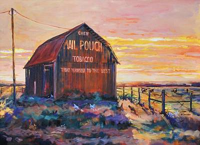 Mail Pouch Barn Painting - When Mail Pouch Was King by Spencer Meagher