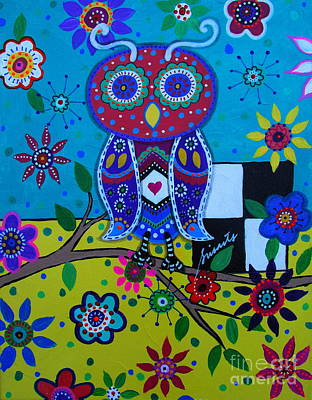 Painting - Whimsical Owl by Pristine Cartera Turkus