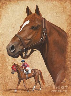 Painting - Whirlaway by Pat DeLong