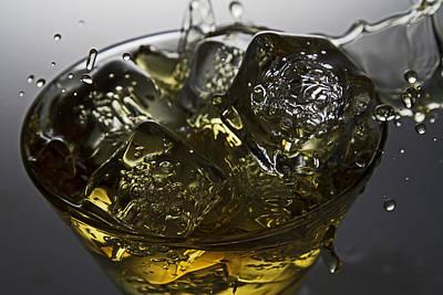 Whiskey Splash Art Print by John Hoey