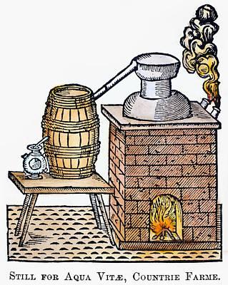 Whiskey Still, 1616 Art Print by Granger