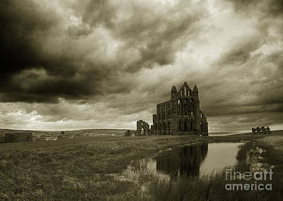 Haunted House Photograph - Whitby Abbey England by Colin Woods