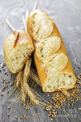 Loaves Photograph - White Baguette by Elena Elisseeva