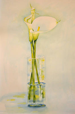Painting - White Calla Lilies by Carol Bruno