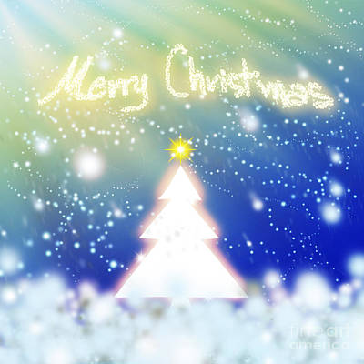 White Christmas Tree Original by Atiketta Sangasaeng