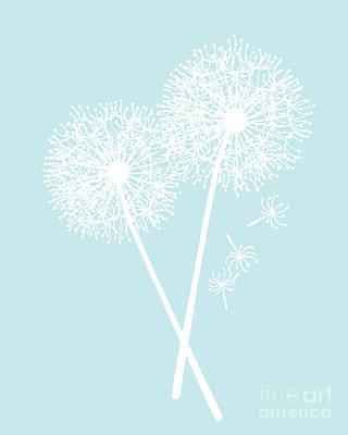 White Dandelions Art Print