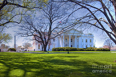 Photograph - White House Executive  Home Of The President Of The United States Washington Dc by David Zanzinger