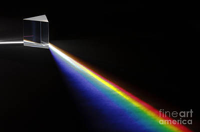 White Light Spectrum Art Print by GIPhotoStock