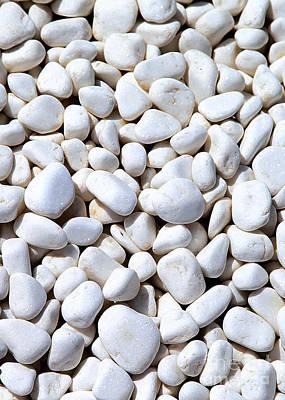 White Pebbles Art Print