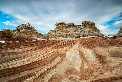 Western Sky Photograph - White Pocket Utah by Larry Marshall