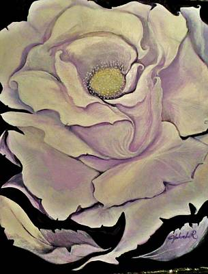 Art Print featuring the painting White Rose by Yolanda Rodriguez