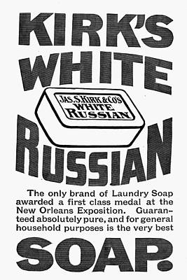 Kirk Painting - White Russian Soap Ad, 1887 by Granger