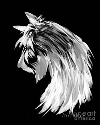 Scottish Terrier Drawing - White Scotty by Zofia Williams