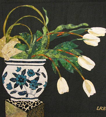 Still Life Tapestries Textiles Tapestry - Textile - White Tulips by Lynda K Boardman