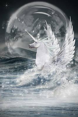 Photograph - White Unicorn by Ethiriel  Photography