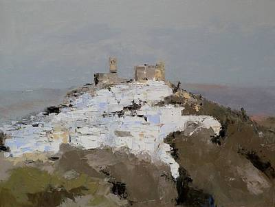 Painting - White Village / Andalucia / Spain by Karina Plachetka