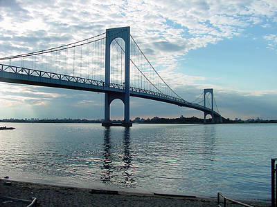 Photograph - Whitestone Bridge by Mieczyslaw Rudek