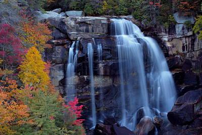 Whitewater Falls In Autumn Art Print