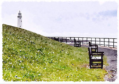 Lamborghini Cars - Whitley Bay Lighthouse by Shelley Walsh
