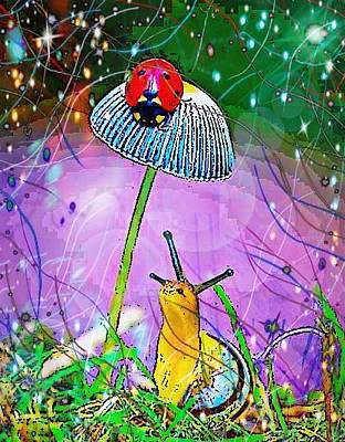 Digital Art - Whos Up There by Karen Buford