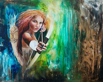 Hunger Games Painting - Wide Awake by Amani Hanson