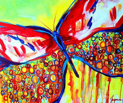 Blissful Painting - Wild Butterflies by Patricia Awapara