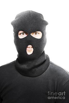 Balaclava Photograph - Wild Eyed Masked Bandit by Jorgo Photography - Wall Art Gallery