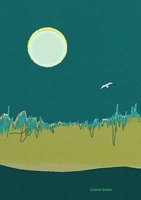 Wild Grasses Art Print by Lenore Senior