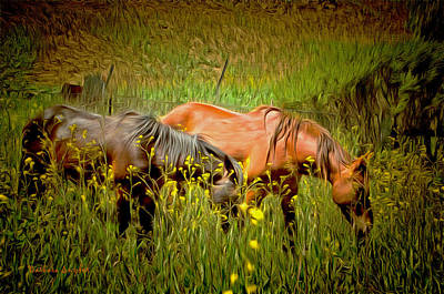 Mustang Painting - Wild Horses In California Series 2 by Barbara Snyder
