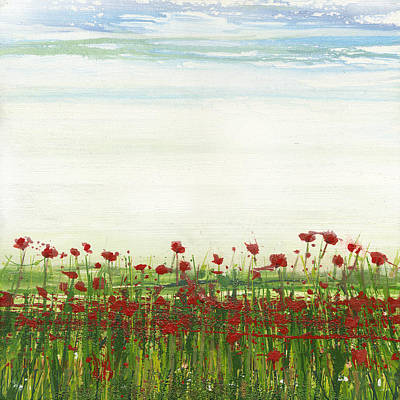 Mixed Media - Wild Poppies Corbridge by Mike   Bell