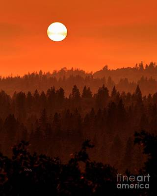Photograph - Wildfire Smoke Sunset by Patrick Witz