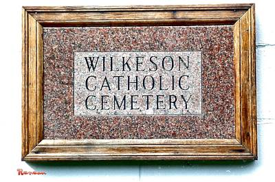 Photograph - 1- Wilkeson Catholic Cemetery by Sadie Reneau