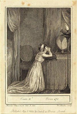 William Blake After Mary Ann Flaxman, British 1757-1827 Art Print