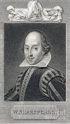 Romance Renaissance Photograph - William Shakespeare, English Playwright by Folger Shakespeare Library