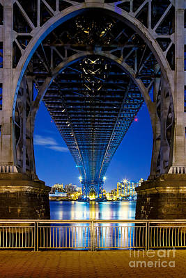 Light Wall Art - Photograph - Williamsburg Bridge 3 by Az Jackson