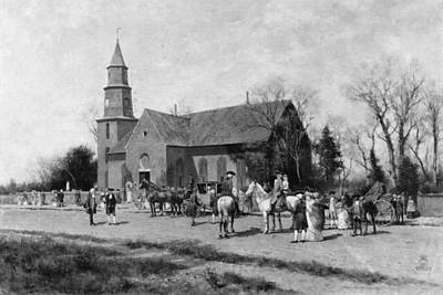Art Print featuring the painting Williamsburg Church by Granger