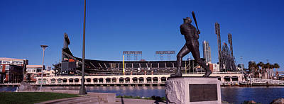 Willie Mays Statue In Front Art Print by Panoramic Images