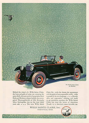 Wills Sainte Claire 1925 1920s Usa Cc Art Print by The Advertising Archives