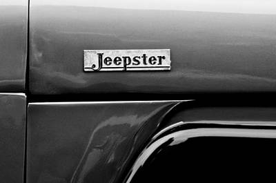 Willys Jeepster Side Emblem Art Print by Jill Reger