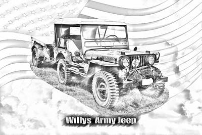 Photograph - Willys World War Two Army Jeep by Keith Webber Jr