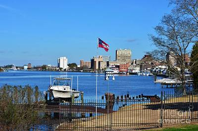 Photograph - Wilmington Waterfront Skyline by Bob Sample