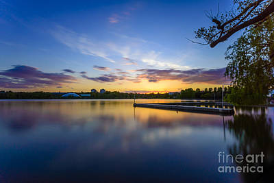 Photograph - Wimbledon Park Sunset by Matt Malloy