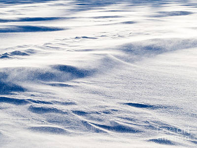 Open Impressionism California Desert - Wind drift snow flying over snow surface refief by Stephan Pietzko
