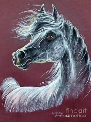 Wind In The Mane Art Print by Angel  Tarantella