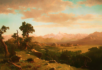 Prairie Sky Art Painting - Wind River Country by Mountain Dreams